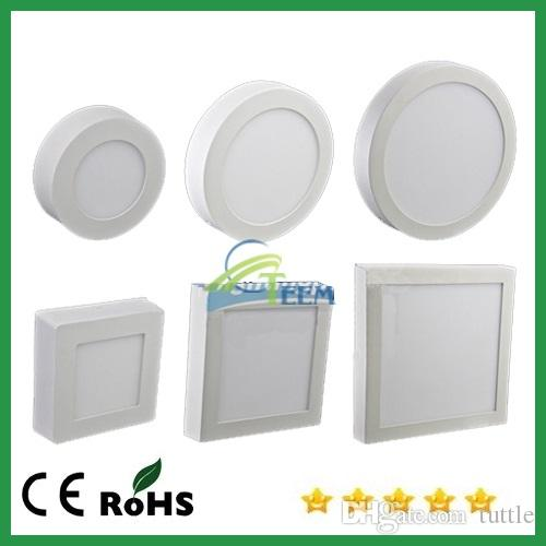 Dimmable 9W 15W 25W Round Square Led Panel Light Surface Mounted Downlight Lighting Ceiling Down Spotlight AC85 265V