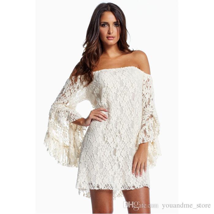Fashion Summer Dresses For Womens Sexy White Lace Dress Skirt ... 44b4a21bd0e2