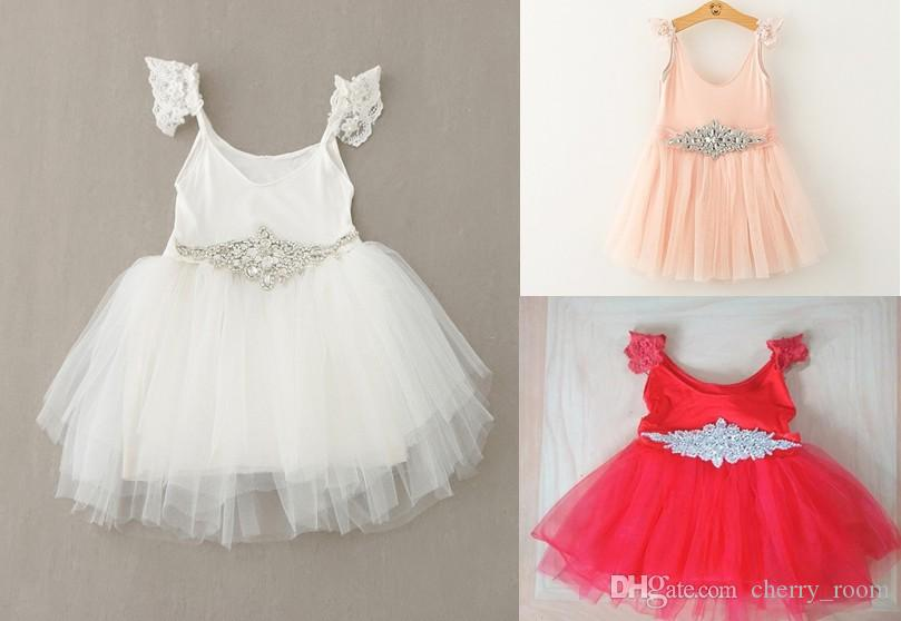 ed8d4b841 Lace Princess Dresses For Girls 2016 New Sequin Tulle Girl Dresses ...