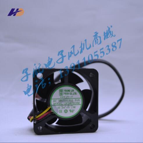Atacado: Yonglin DFB402024M 24V 1.9W 40 * 40 * 20 três fios inversor fan server