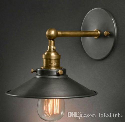 Vintage Industrial Wall Lamp Retro Metal Light Glass Diy Lighting Hat Design  Black Pendant Light Pendant Lights For Kitchen From Lxledlight, $60.31|  Dhgate.