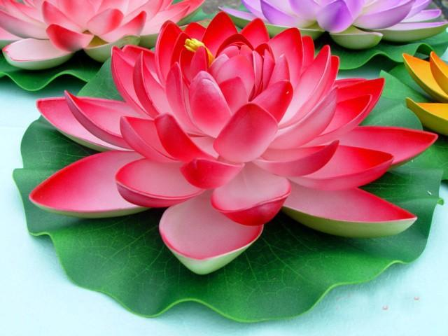 2019 28cm Artificial Lotus Flowers Water Lily Wedding Decoration