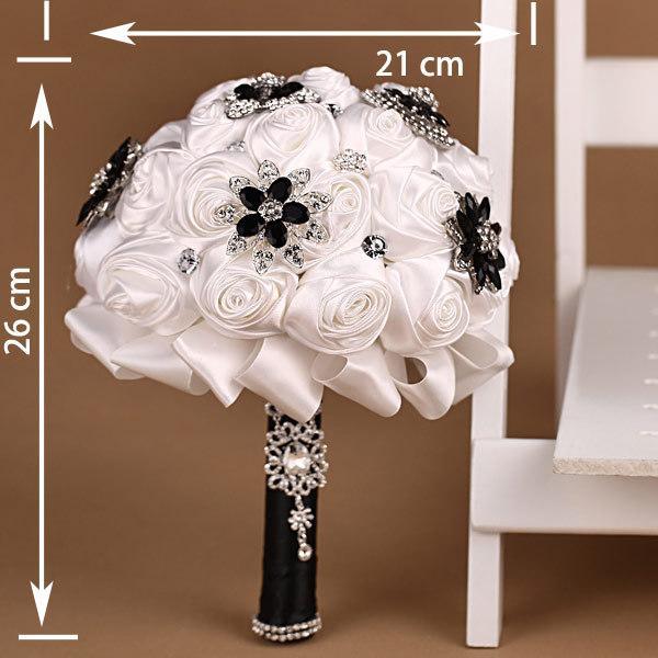 White And Black Wedding Bridal Bouquet Casamento Wedding Favors ...