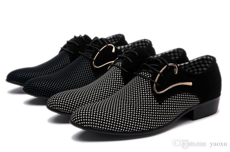 Compre Zapatos De Vestir Para Hombre Más Baratos Punta Estrecha Para ...