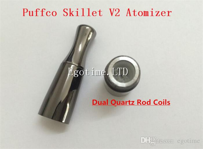 HOT Skillet Vaporizer Dual Quartz Coil the @Puffco pro Portable Upgraded Wax Dry herb atomizer large Ceramic chamber herbal vapor pen