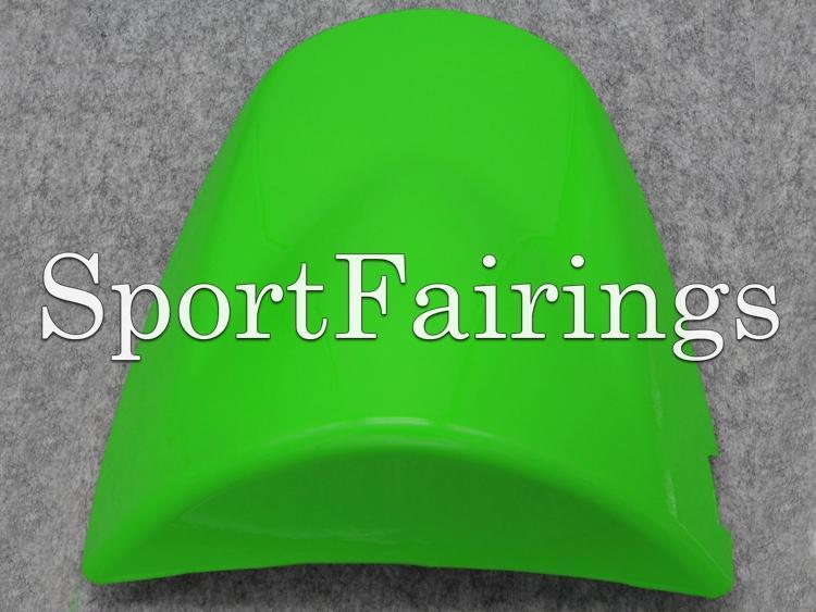 Cubierta trasera de la cubierta del asiento verde para Kawasaki Ninja ZX-6R ZX6R 03 04 / Z1000 03 04 05 06 Inyección ABS Plástico Motocicleta Cubierta de asiento de asiento Nuevo
