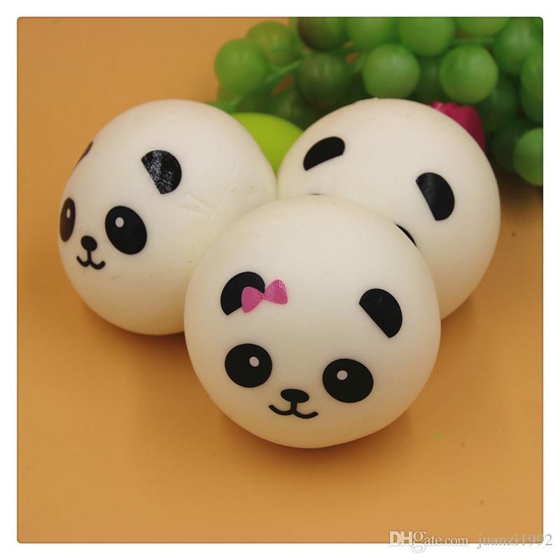 Kawaii Squishy 3.9 Inch Slow Rising Cute Jumbo Panda Squishy Charm Panda Bread Keychains Squishy Toys