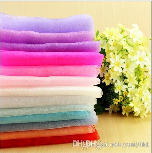 75cm Wide Sheer Crystal Organza Fabric For Wedding Diy Decoration