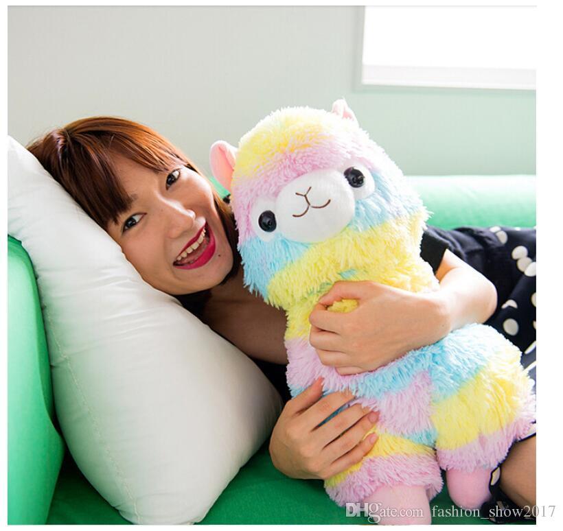 Hot Rainbow Alpaca Plush Toys Kawaii Alpacasso Stuffed Toys Japanese Plush Doll Toys Children Kids Gift