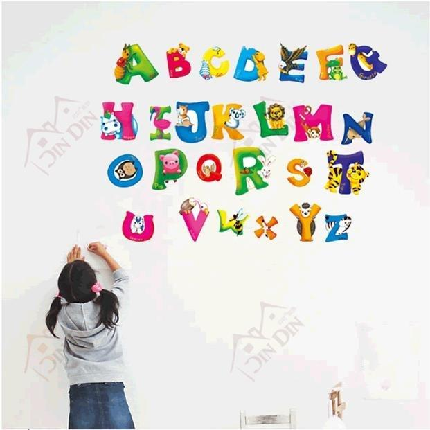 Decorative Pvc Alphabet Wall Stickers,Children Room Wall Decal,Cartoon  Letters Sticker Mural Decals Mural Sticker From Bigagung, $127.02|  Dhgate.Com