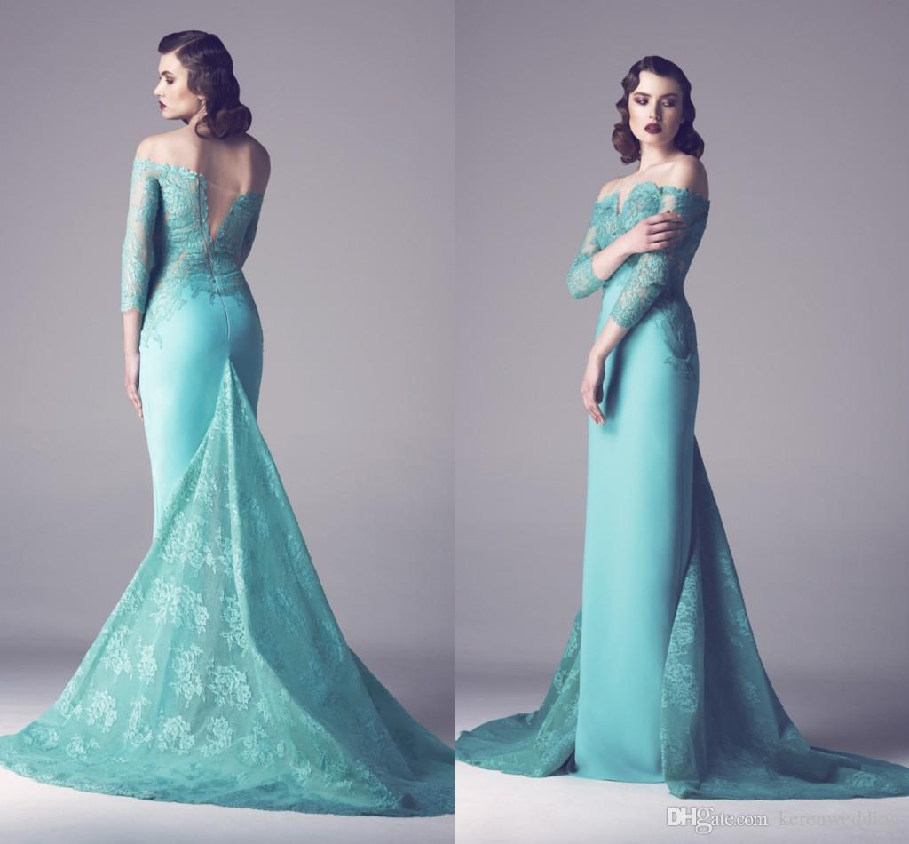 2015 Prom Dresses Off Shoulder Formal Dresses Party Evening Gowns ...