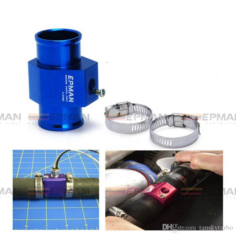 EPMAN - Evrensel Yüksek Kalite Mavi Su Sıcaklığı Göstergesi Bir Ticari sensör eki kullanın 36mm Alüminyum EP-WT36