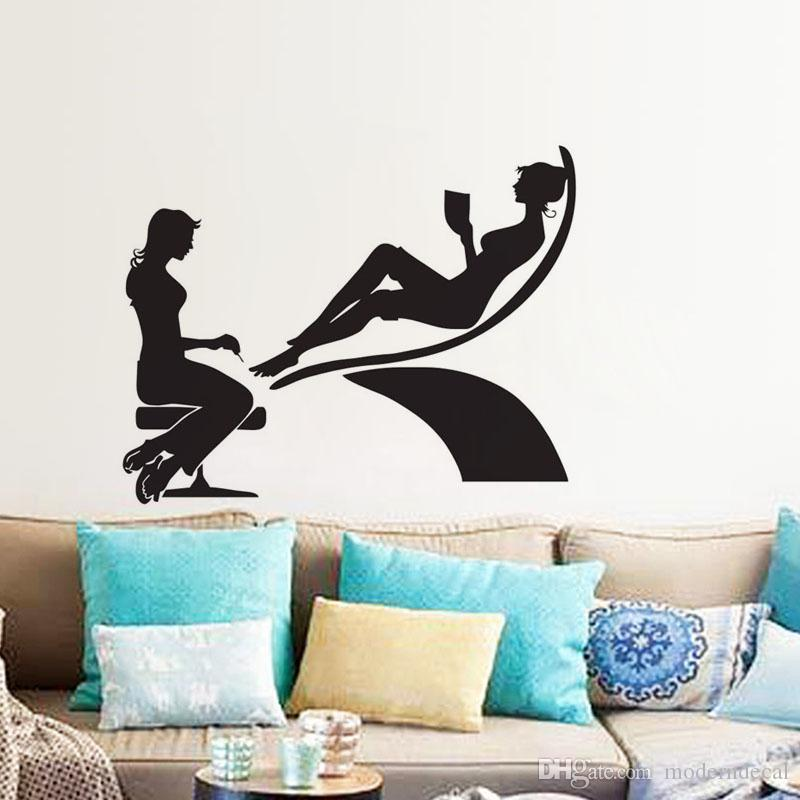 beauty salon pedicure wall stickers home decor creative stickers