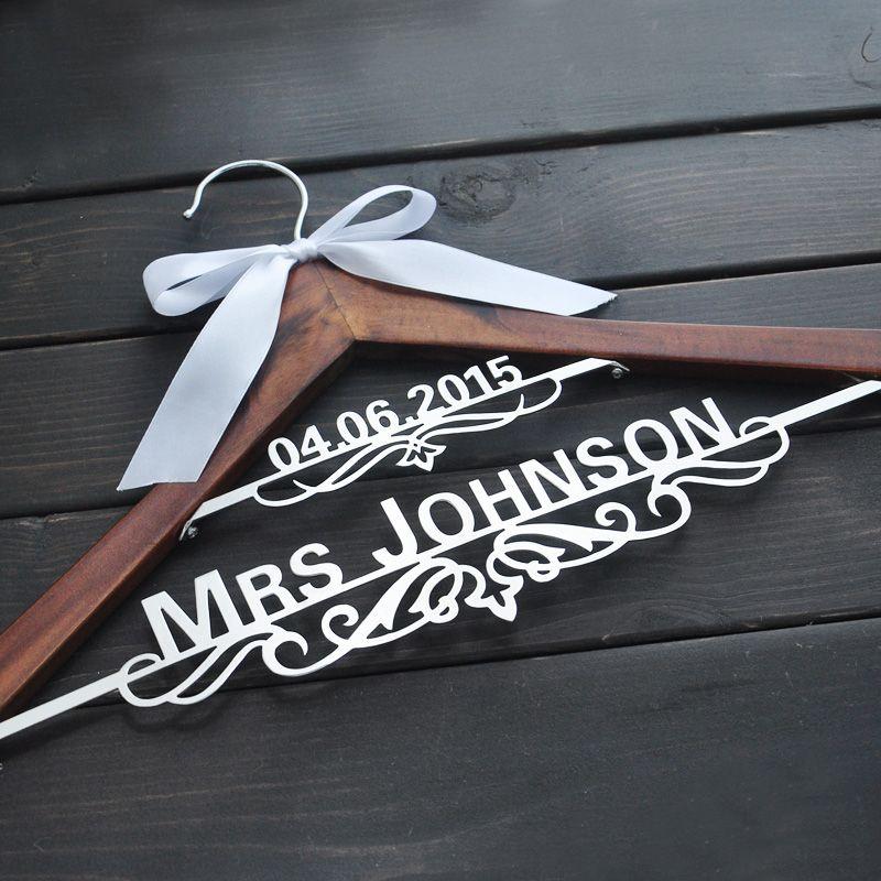 Personalized Bridal Hanger, Custom Wedding Hanger, Custom Wooden ...