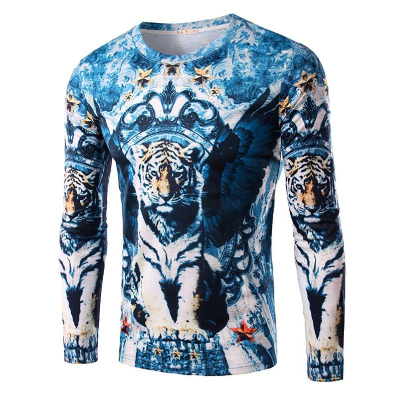 9c70783e 2015 Fashion Men Tops Design Long Sleeve fitness Slim Men's T-shirts New  Autumn Thick Casual and Fashion Cotton brand clothing