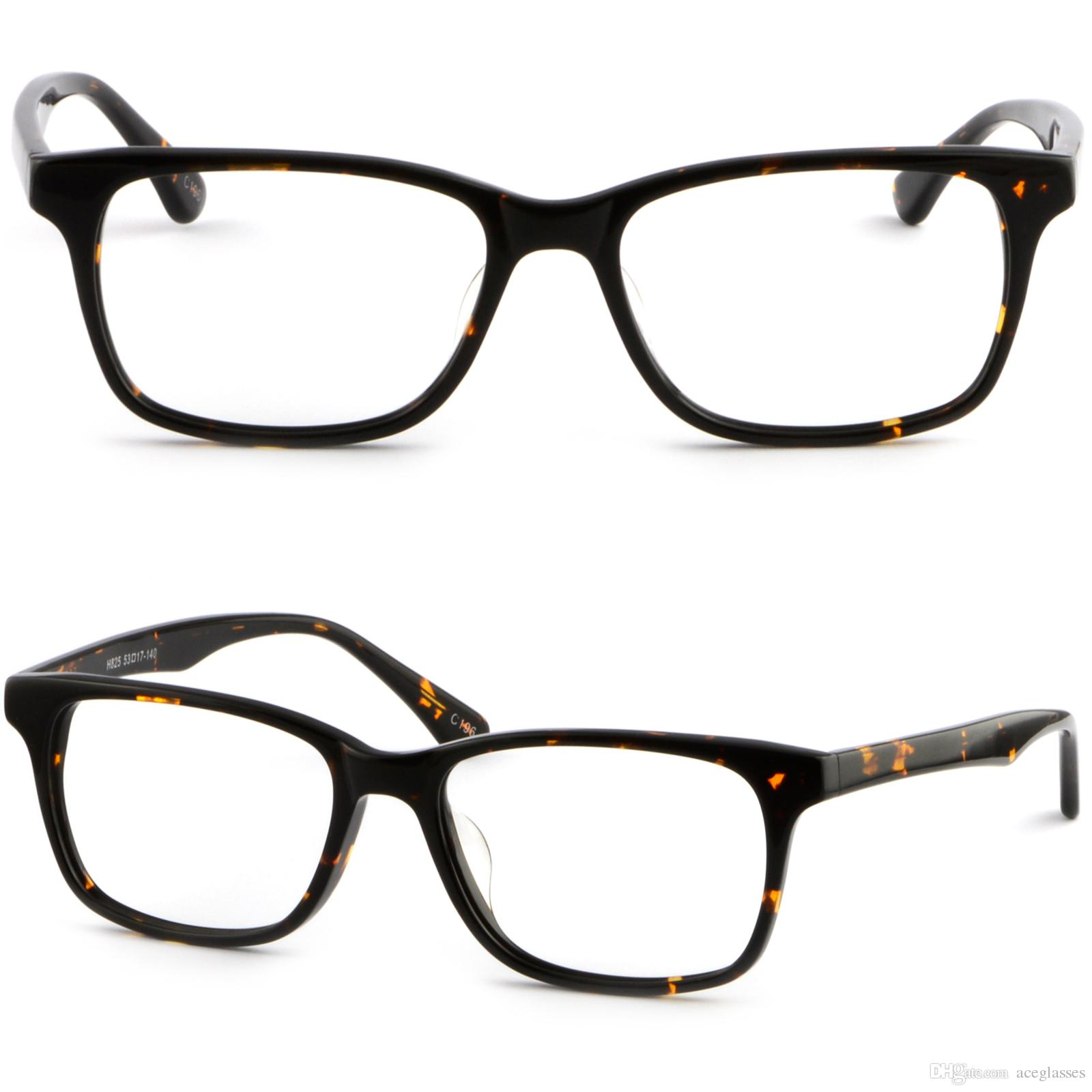 b16be4ed64 Black Tortoiseshell Square Men Women Plastic Frame Prescription Glasses  Sunglasses Wholesale Eyeglass Frames Wide Eyeglass Frames From Aceglasses