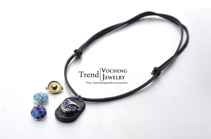 Vocheng نوسا قلادة الزنجبيل المفاجئة مجوهرات 3 ألوان للتبادل مجوهرات 18 ملليمتر زر المعلقات NN-059