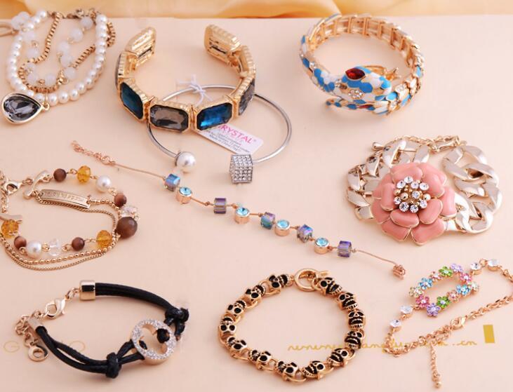 10 stks / partij Mix Style Crystal Beads Rhinestone Armbanden voor DIY Craft Mode-sieraden Gift CR008 Gratis Shipp