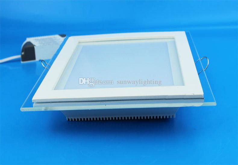 Levou Para Baixo Luzes de Vidro Recesso Downlight Rodada Quadrado levou luz de painel de teto Fresco Quente branco iluminação LED AC100-240V CE SAA