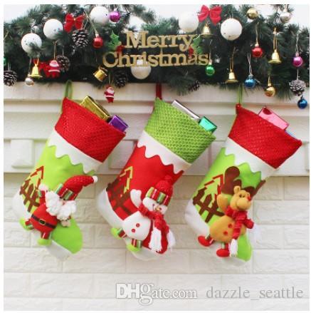 Non Waven Fabric Christmas Stockings Santa Christmas Stocking ...