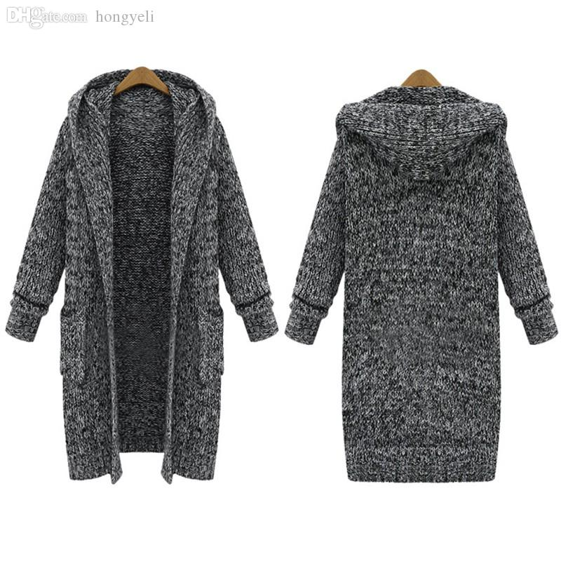 Online Cheap Wholesale Top New Plus Size Cardigan Sweater Coat ...