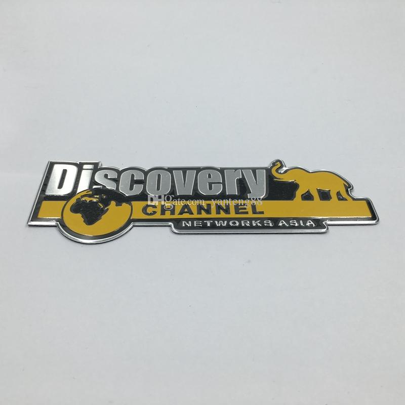 New Style Aluminum Discovery Channel Networks Asia Car Body Rear Trunk  Emblem Badge Sticker For Jeep for Dodge for Land Rover GM