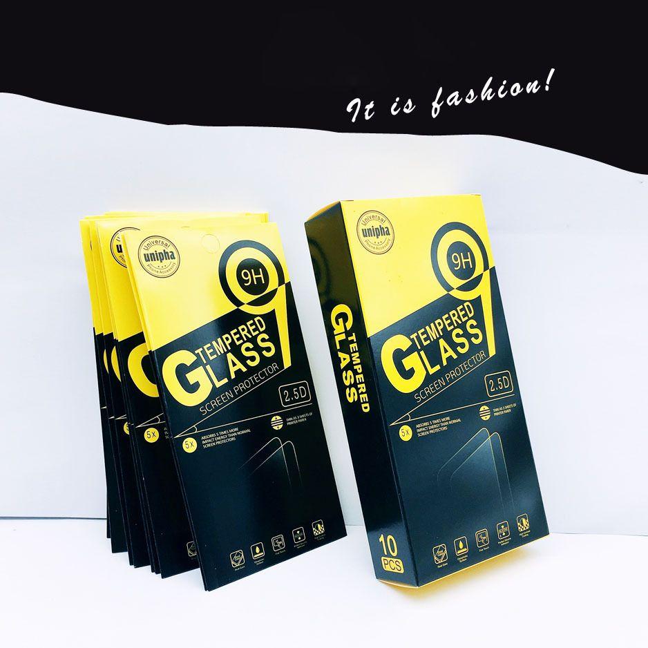 Leeres Kleinpaket Papierkästen in Each Günstige Box-Verpackung für Premium-9H-ausgeglichene Glas-Schirm-Schutz iPhone Samsung Huawei Sony