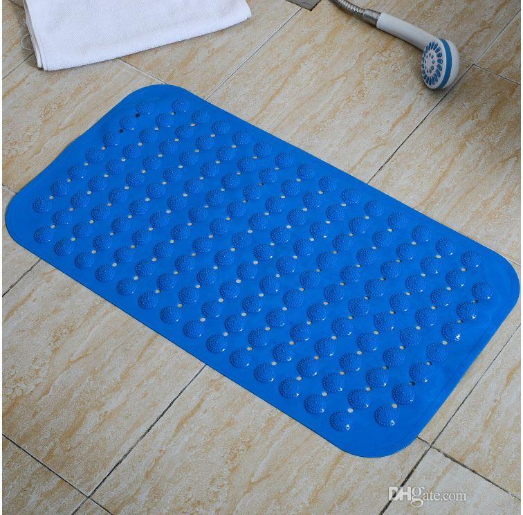Vakum ile Banyo Halı Antisilip Masaj Minderi Renkli Banyo Deldi PVC Plastik kasa Pad