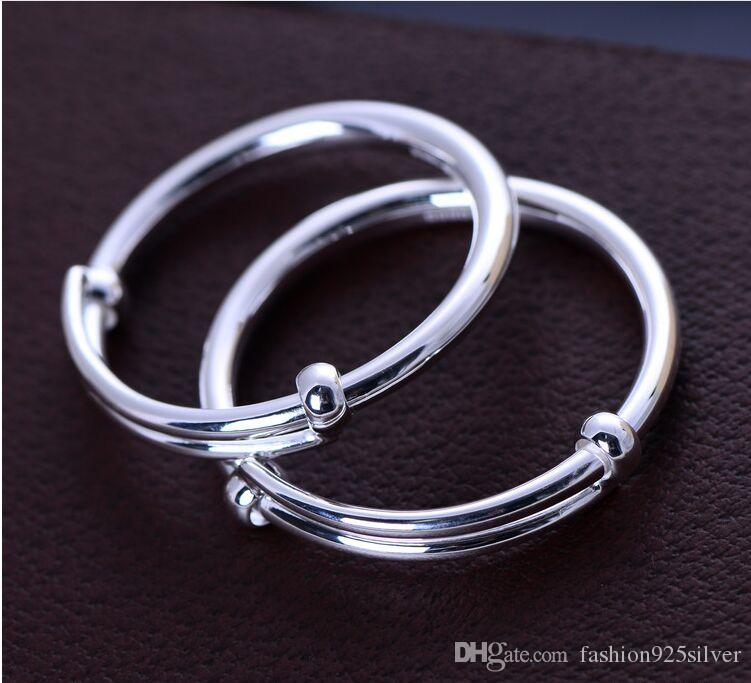 990 sterling silver jewelry cute smooth bracelet child 053549w