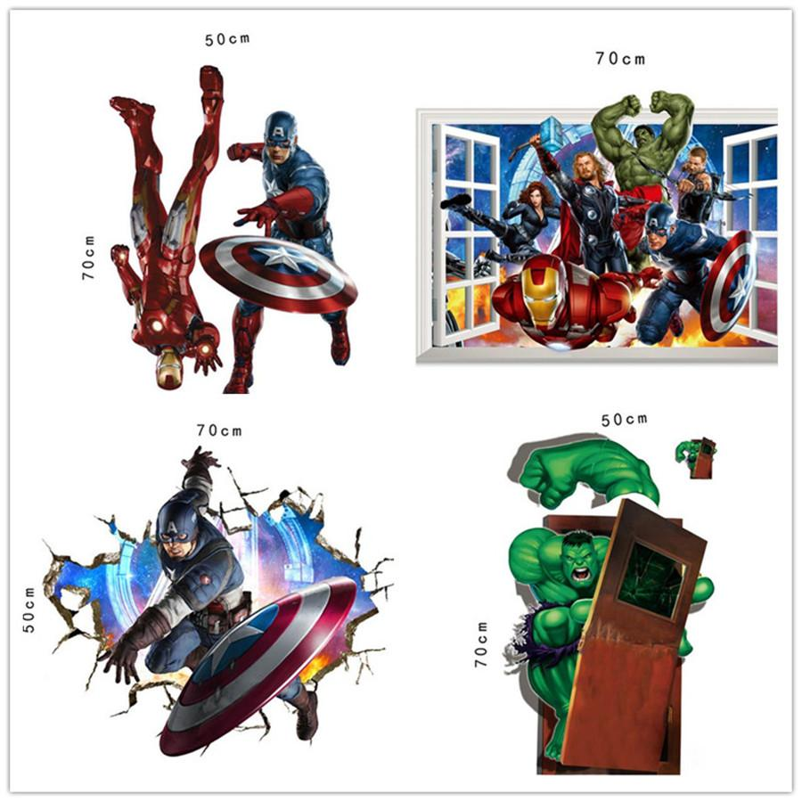 Dhl Ship The Avengers 3d Wall Decals Stickers Avengers Wall