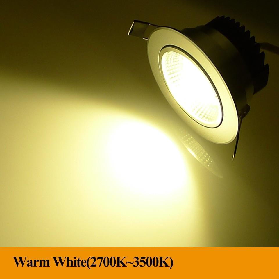 Супер яркое Dimmable Сид вниз освещает свет пятна потолка удара 5W 10W 20W утопленные потолком света теплое холодное белое крытое освещение