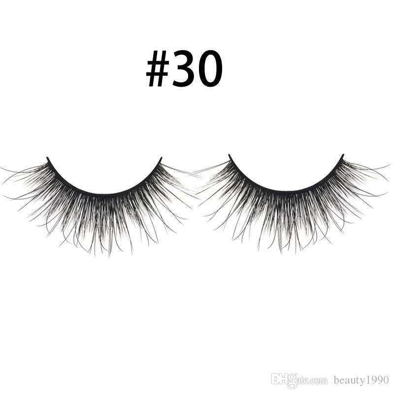 3D Mink False EyeLashes Natural Extension Handmade Plastic Cotton Stalk Full Strip Lashes For Women Date Makeup Fake Eye Lashes