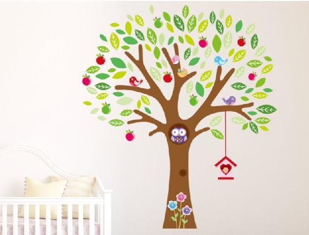Cute Owl Tree Peel U0026 Stick Wall Decal Kindergarten Diy Art Vinyl Wall  Stickers Decor Mural 140*160cm Wall Decals And Stickers Wall Decals Art  From Lin116, ... Part 86