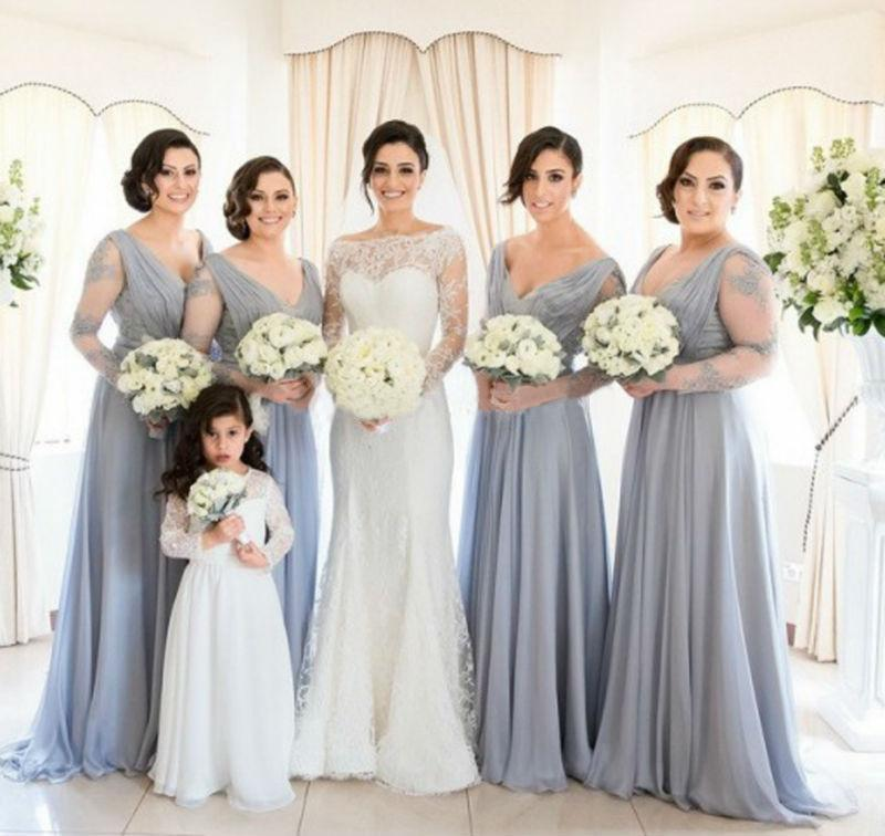 Wunderbar Brautjunferkleider Mit ärmeln Plus Size Bilder ...