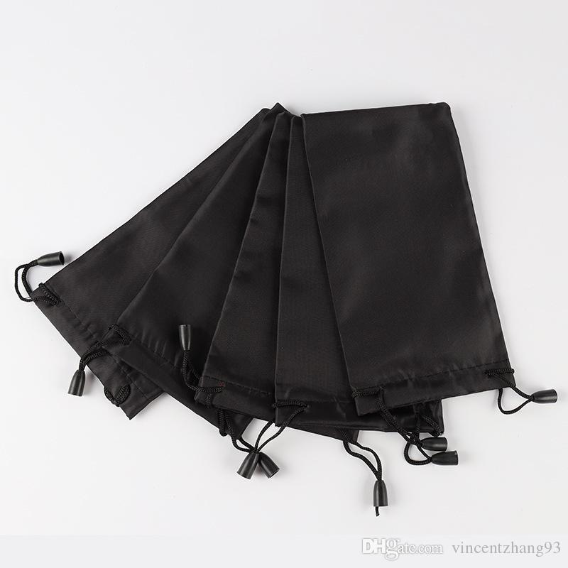 Femmes mode grille noir sac pochette souple lunettes sac lunettes cas chaude étanche lunettes de soleil livraison gratuite / 18 * 9 cm