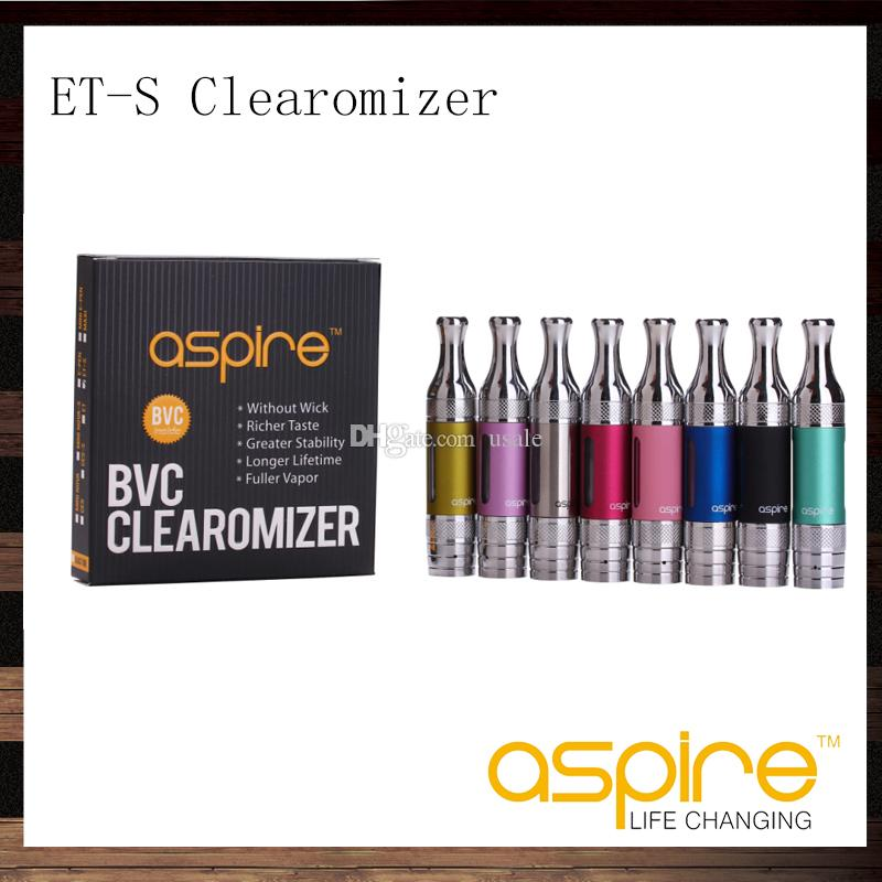 Aspire ETS BVC Clearomizer 3ML ET-S BDC Atomizer With BVC BDC Replacement Dual Coil Head
