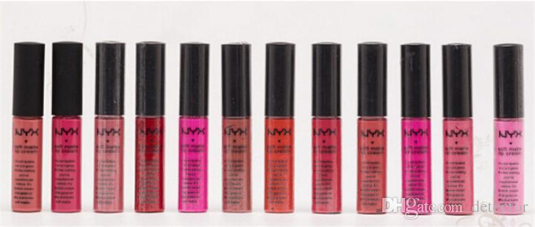NYX Soft Matte Lip Cream Lipstick NYX Makeup Charming Long-lasting Daily Party Brand Glossy Makeup Lipsticks Lip Gloss