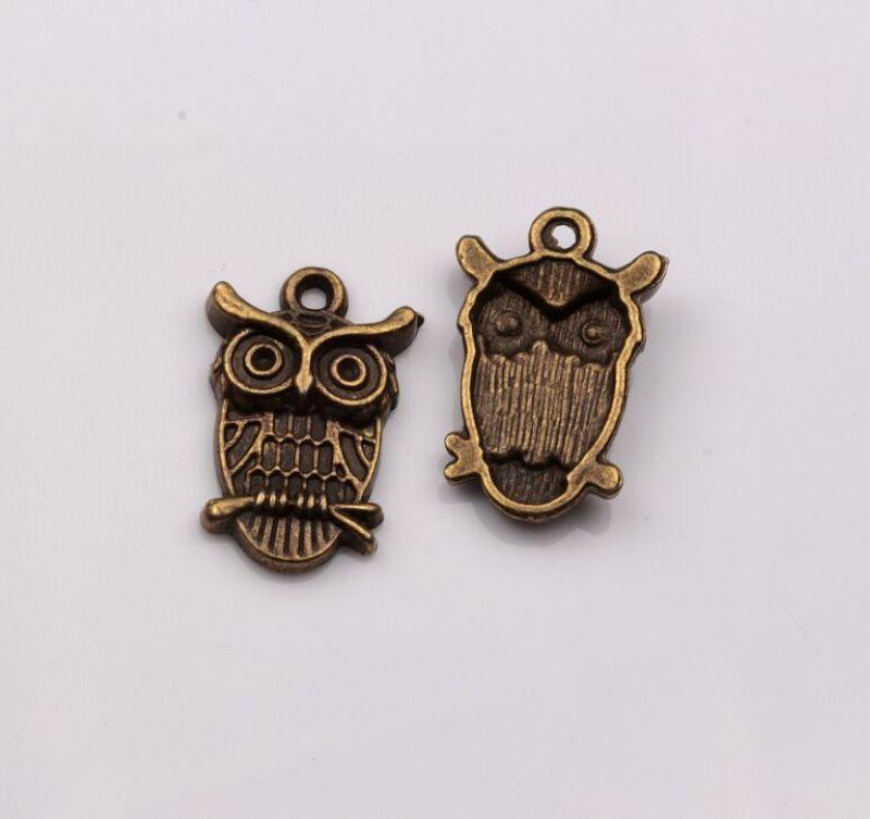 Горячее продавать! Модные античные бронзовые сова Шармы подвески DIY Ювелирные изделия 23x14x4mm 418