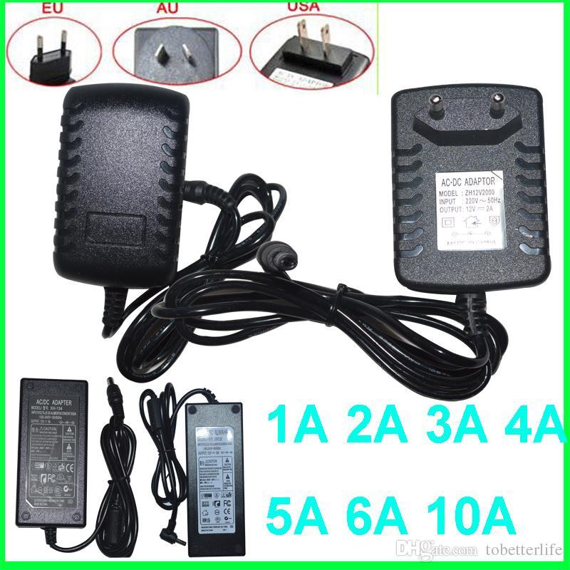 Interruptor de alimentación del transformador Interruptor de alimentación Tipo de mesa adaptador 100-240VAC a DC12V 3A 5A 36W 60W para luz de tira LED
