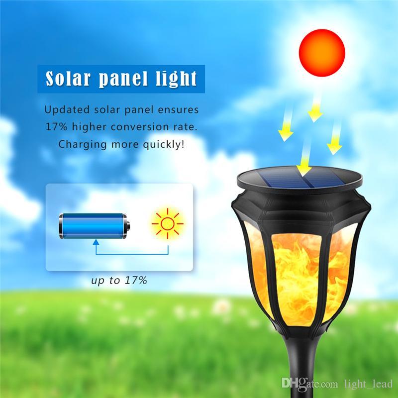 Titrek LED Güneş Alev Çim Lambası 96 LED IP65 Açık Su Geçirmez Avlu Bahçe Sahne Sokak Işık
