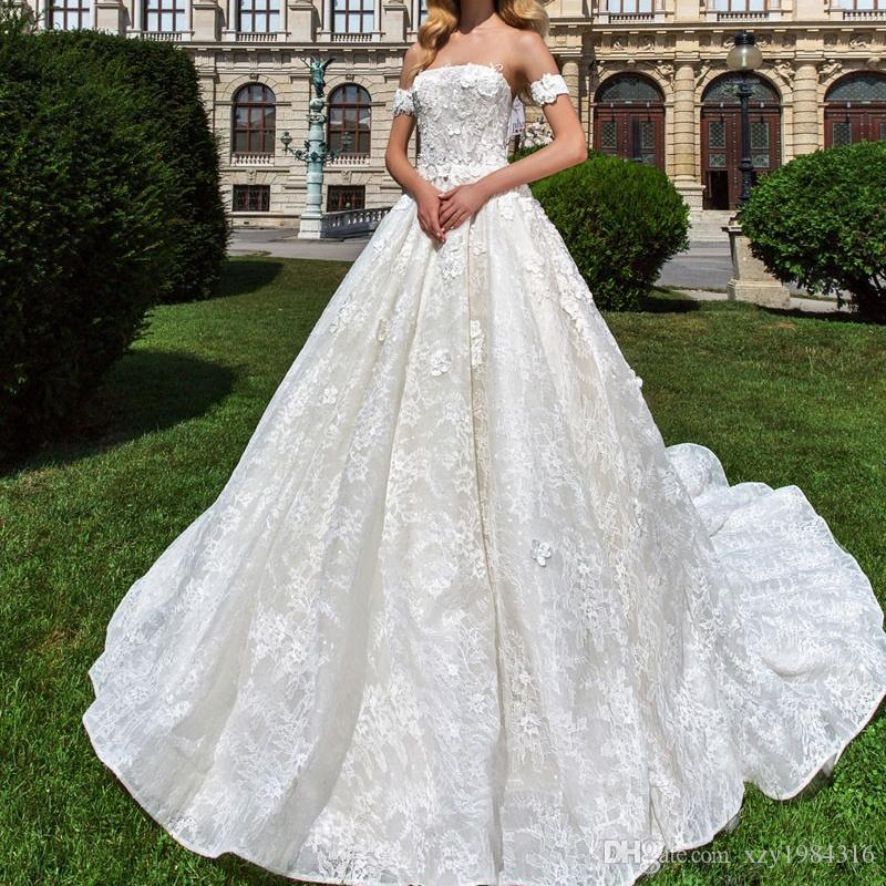 Discount A Line Off Shoulder Wedding Dresses Brand Crystal Design ...