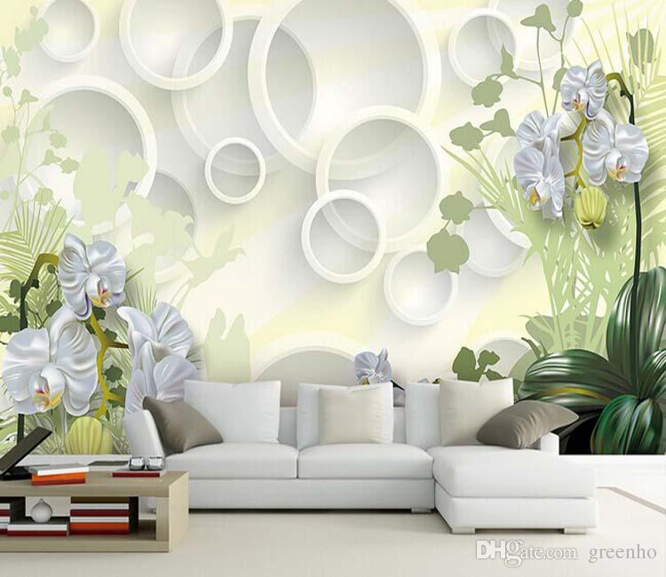 Elegant wall mural large wallpaper interior art decoration for Wallpaper home vintage