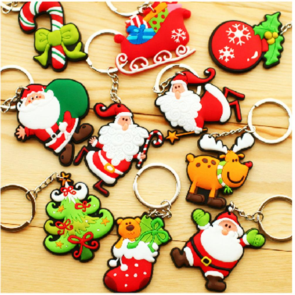 2015 Hot Sell Wholesale Kids Christmas Gift Santa Claus Pvc Keychain ...