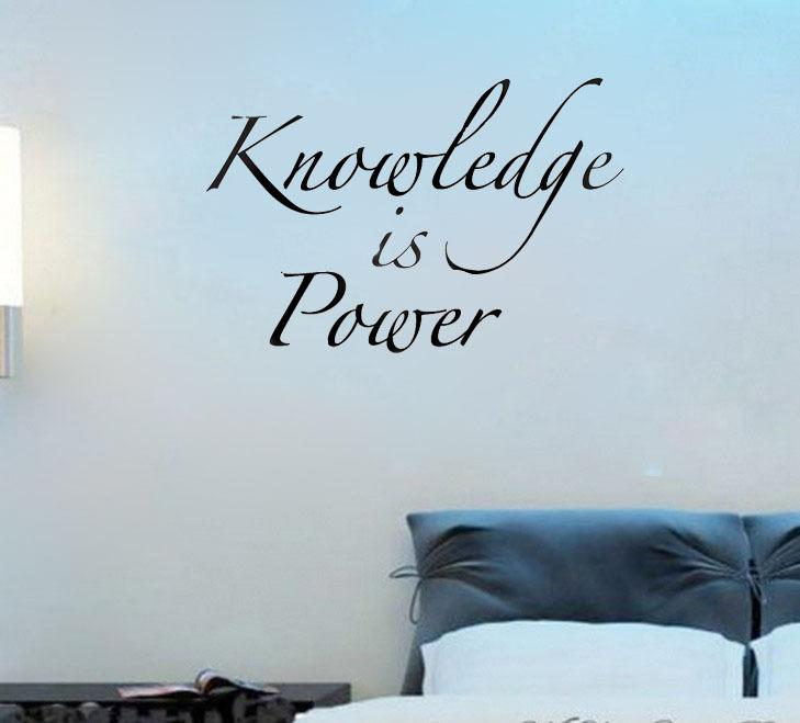 Art Lettering Decorative Knowledge Is Power Wall Decals Vinyl Stickers Home Decor Living Room Decoration Wallpaper For Bedroom