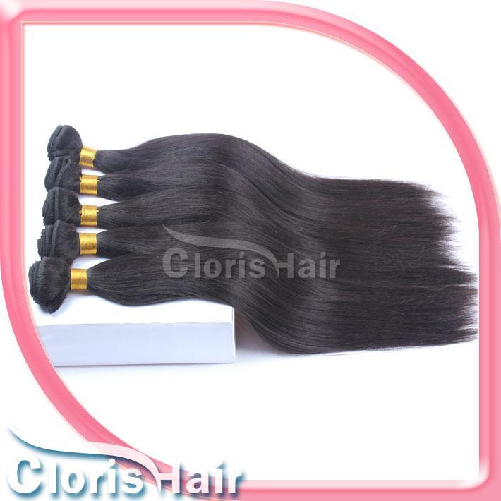 Decente qualidade macia Eurasian Cabelo Weaves reta de seda não transformados extensões do cabelo europeus Remi Humanos Cabelo Cloris
