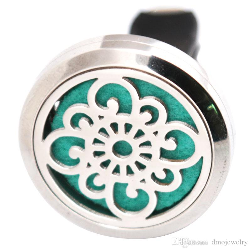 Aromatherapy Essential Oil surgical 30mm Stainless Steel Pendant Perfume Diffuser Car Locket Send Felt Pads