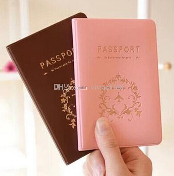 Fashion Passport Ticket ID&Document HoldeR Credit Card Travel Cover Protector travel accessories passport case 2 Colors Free DHL