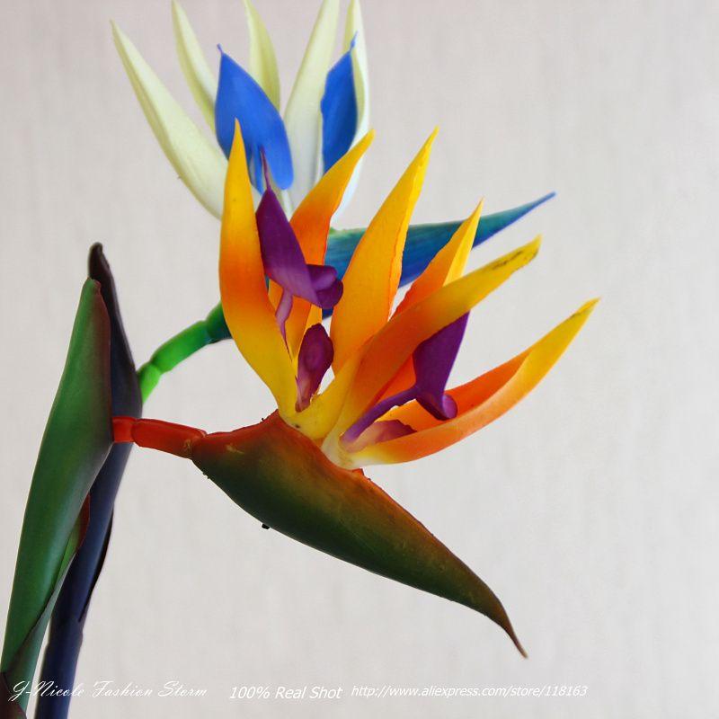 2019 Spring Plastic Strelitzia Artificial Bird Of Paradise Flower