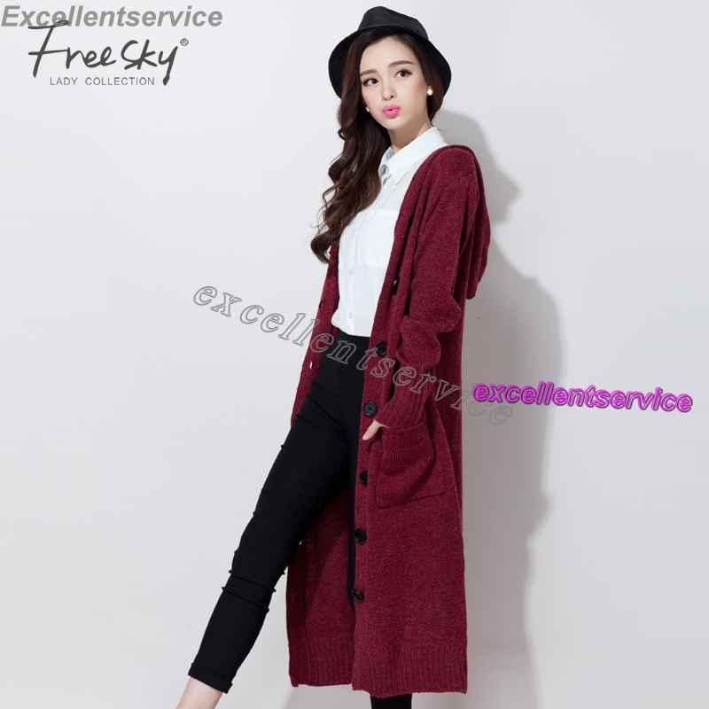 dd67f576363 Korean Style Long Cardigan Women Long Sleeve Hooded Loose Big Yards ...