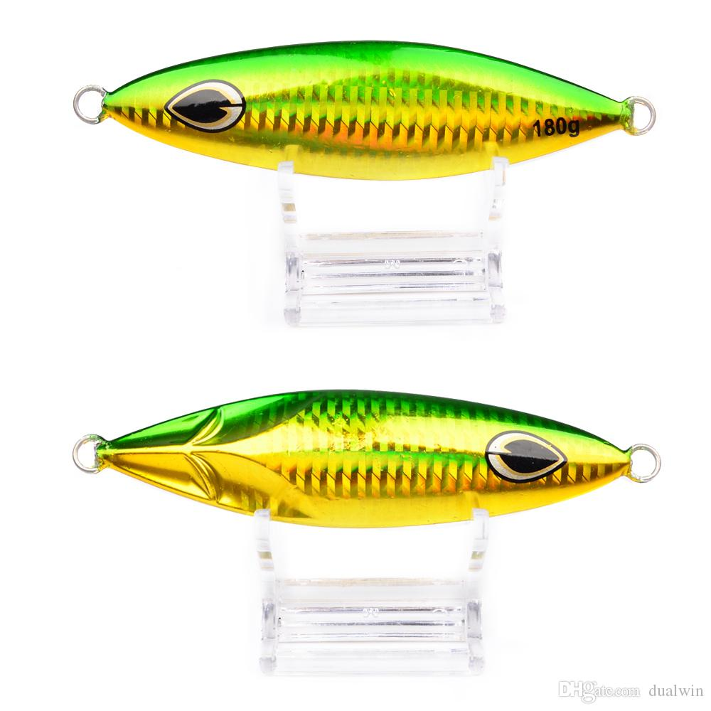 Jigging Lure Lead fish 180G/11.5CM Metal Jig Fishing Lure Paillette Knife Wobbler Artificial Hard Bait Laser Body